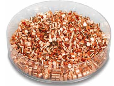Copper, Cu Pellets - Evaporation Material - 99.999% purity- 3 x 3 mm