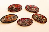 Gourd carved and dyed barrettes - Fair Trade