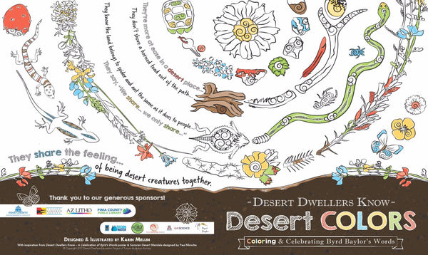 Desert Dwellers Know Coloring Book