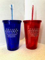 Tucson Audubon Logo Cup with Straw