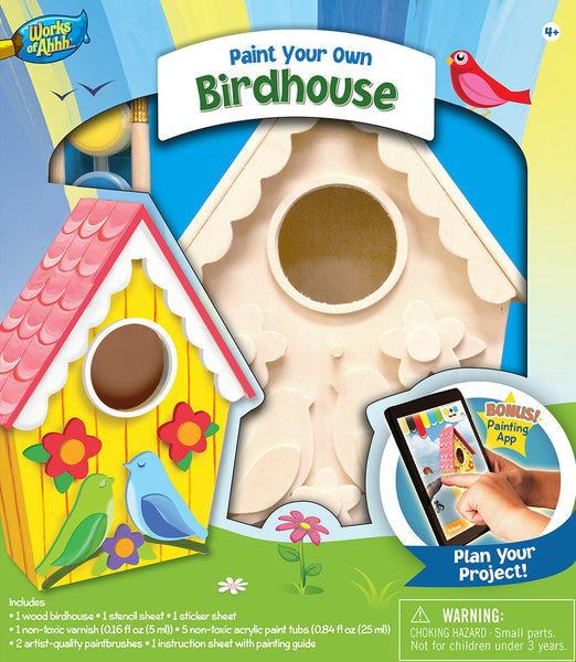 Paint Your Own Lovebirds Birdhouse