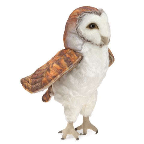 Barn owl puppet by Folkmanis
