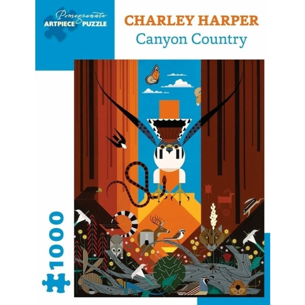 Charley Harper Canyon Country 1000 Piece Puzzle