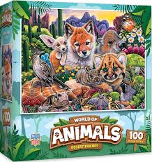 World of Animals Desert Friends 100 Piece Puzzle