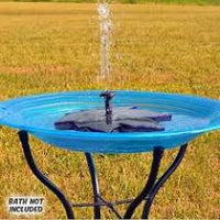 Floating Leaf Solar Birdbath Bubbler