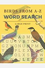 Birds From A-Z Word Search Large Print