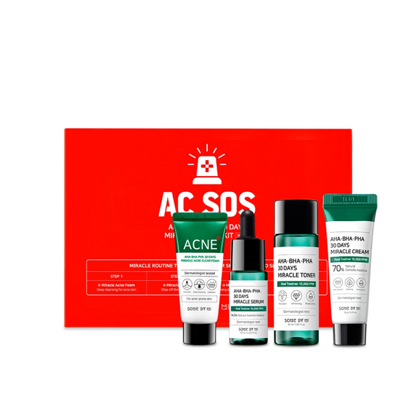 AHA, BHA, PHA 30 Days Miracle AC SOS Kit 4 pcs