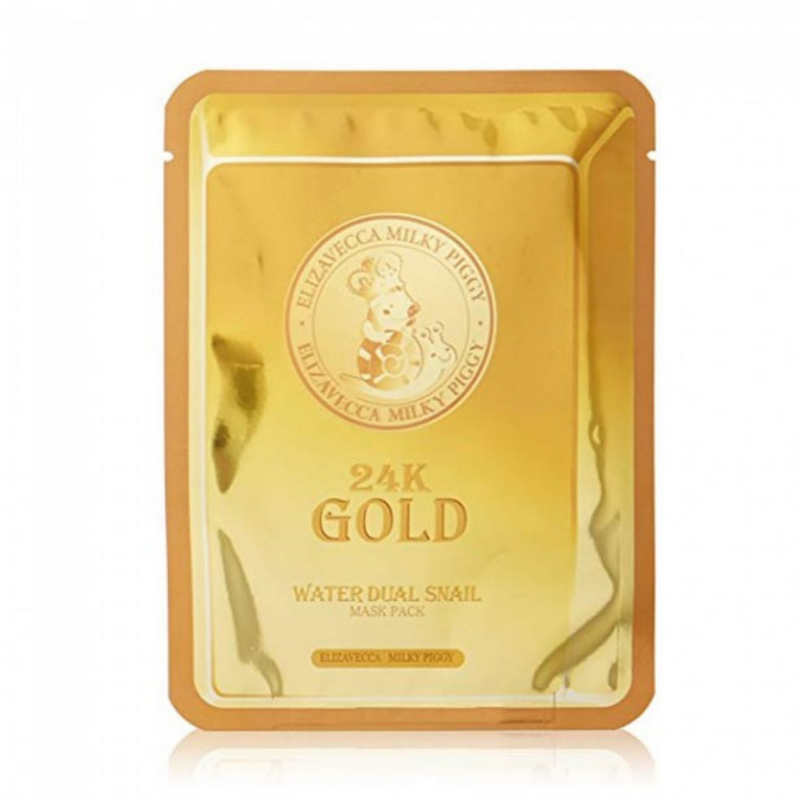 24K Gold Water Dual Snail Mask