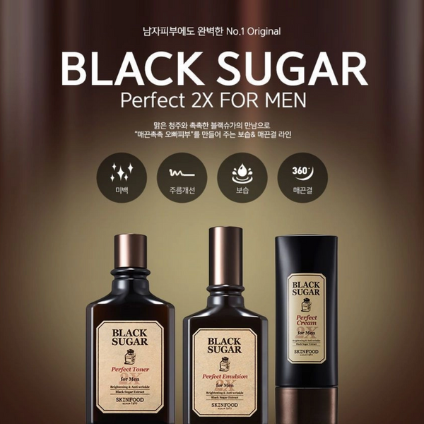 Black Sugar Perfect Toner 2X For Men 180ml