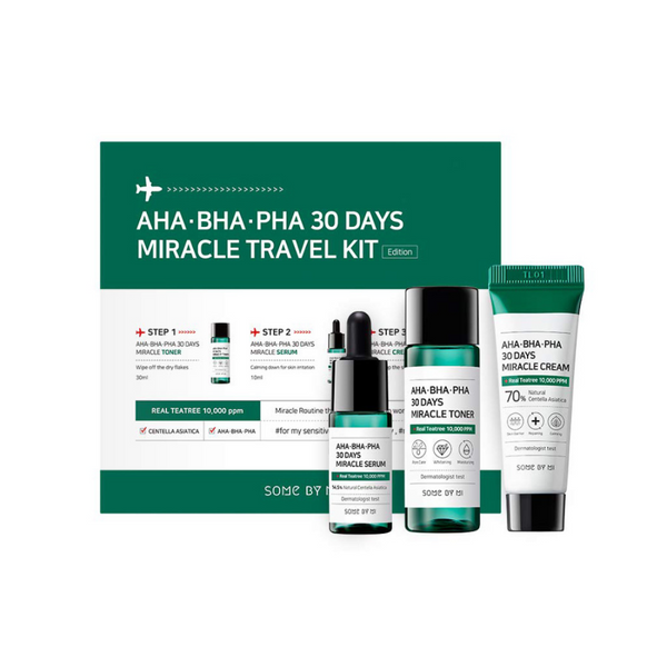 AHA, BHA, PHA 30 Days Miracle Travel Kit (3pcs)