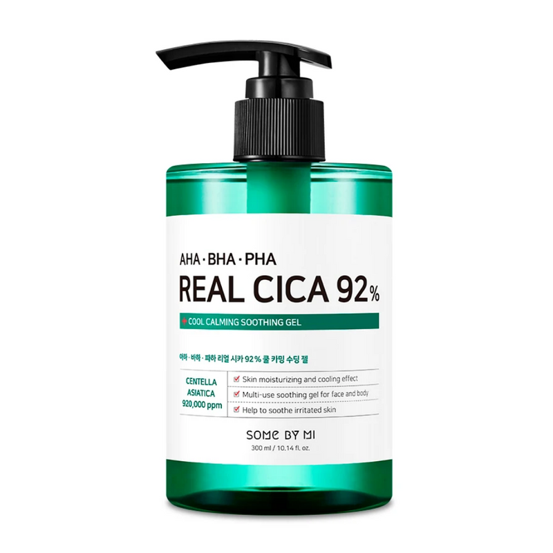 AHA, BHA, PHA Real Cica 92% Cool Calming Soothing Gel 300ml