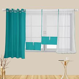 Flying Tulle Curtains Blue Modern Sheer Fabrics Home Textile