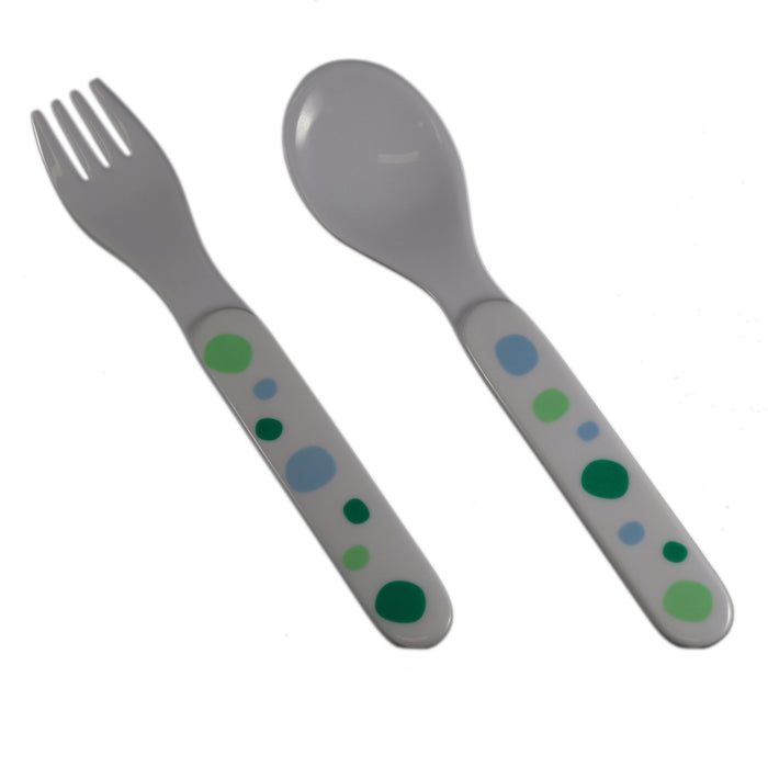 Barel Baby Green Polka Dot Cutlery Set