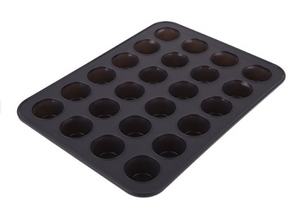 Mini Muffin Pan Silicone 24 Cup