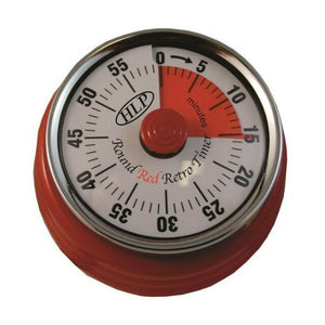 HLP-Retro Style Round Red Pro Timer - No Batteries