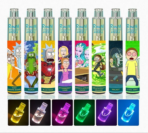 RandM DAZZLE 2000puffs Disposable with RGB Lights 650mAh