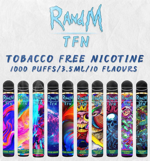 RandM TFN 1000Puffs Disposable Vape Pod Device 650mAh