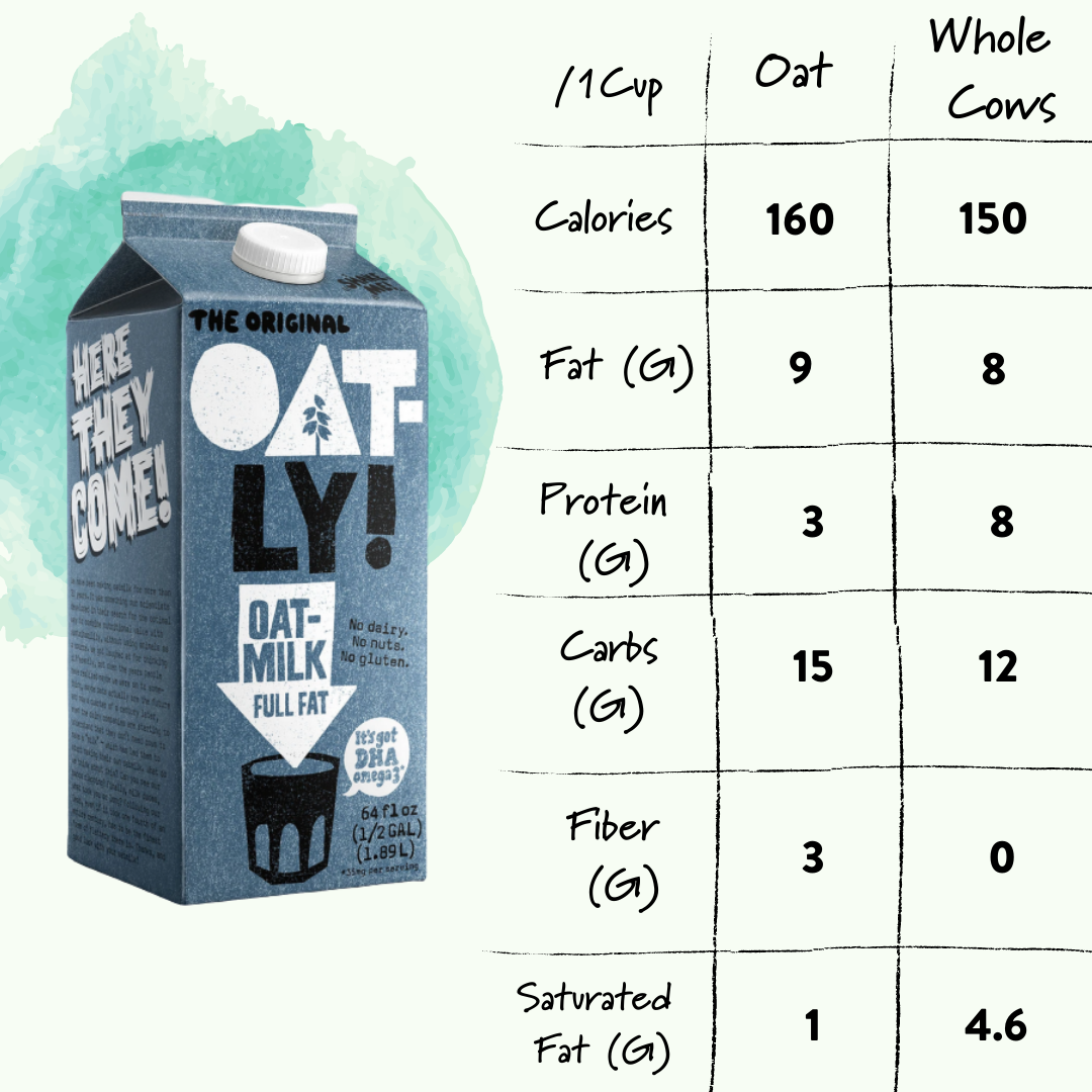 Oat Milk vs Cows Milk