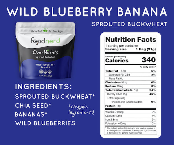 Wild Blueberry Banana Sprouted Buckwheat