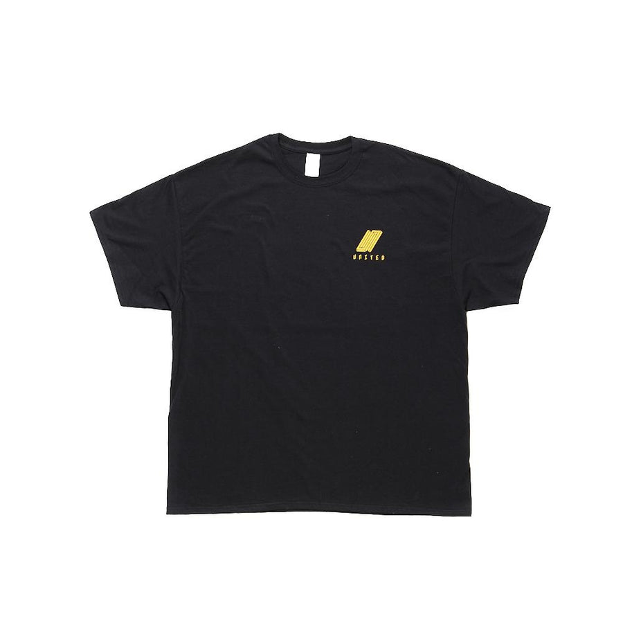 United Reborn T-Shirt Yellow On Black Preview