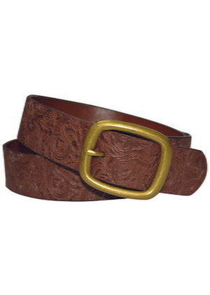 Paisley Emboss Belt - Vault Country Clothing