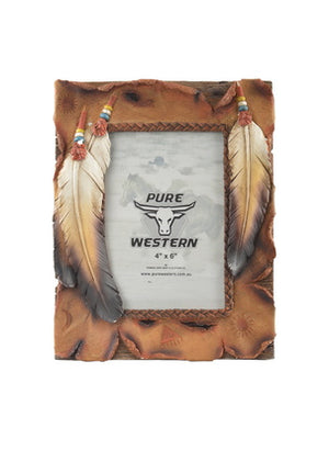 Three Feathers Picture Frame - Vault Country Clothing