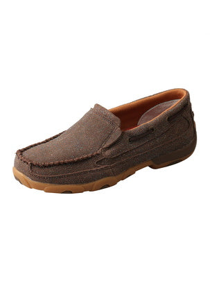 Women's Chocolate Shimmer Mocs slip on