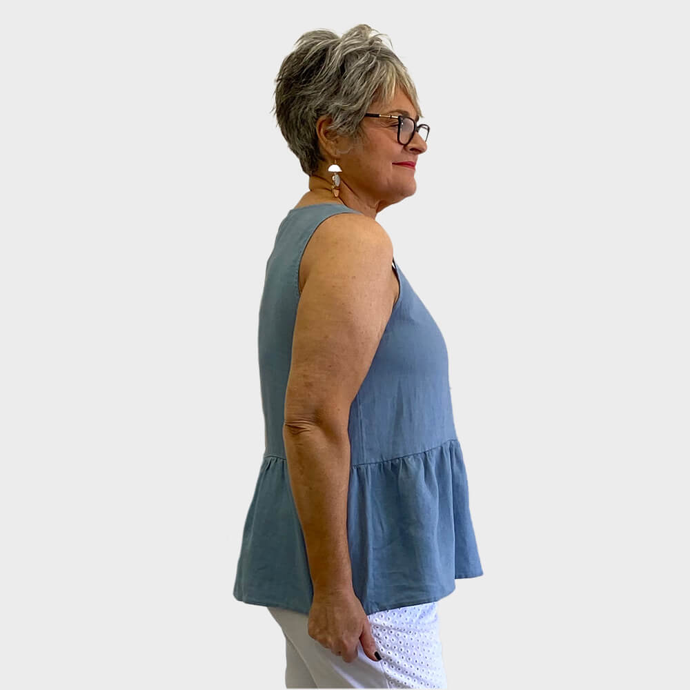 Clarity Gathered Sleeveless Top