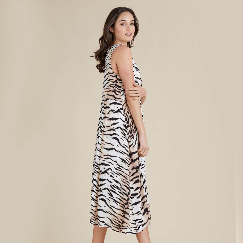 Threadz Tiger Print Dress