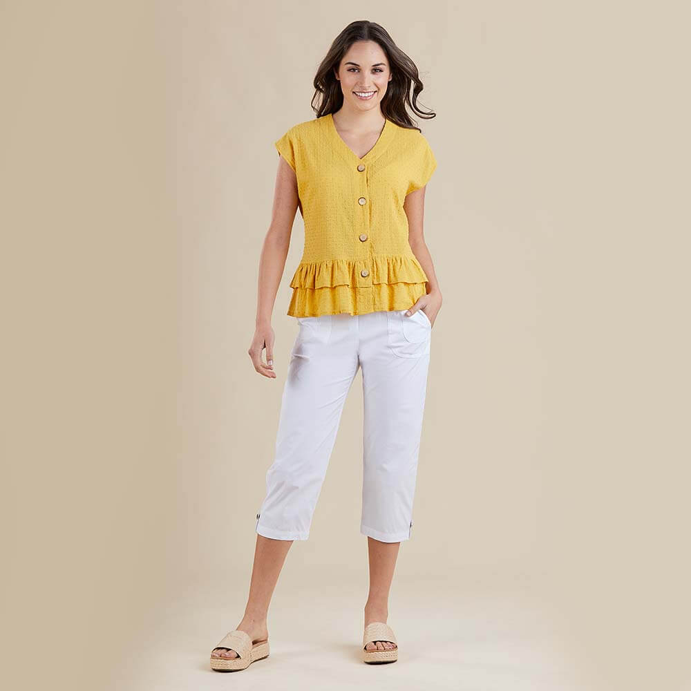 Threadz Short Sleeve Button Blouse