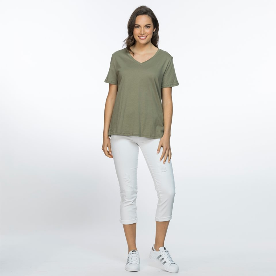 Eco V Neck Tee - Vault Country Clothing
