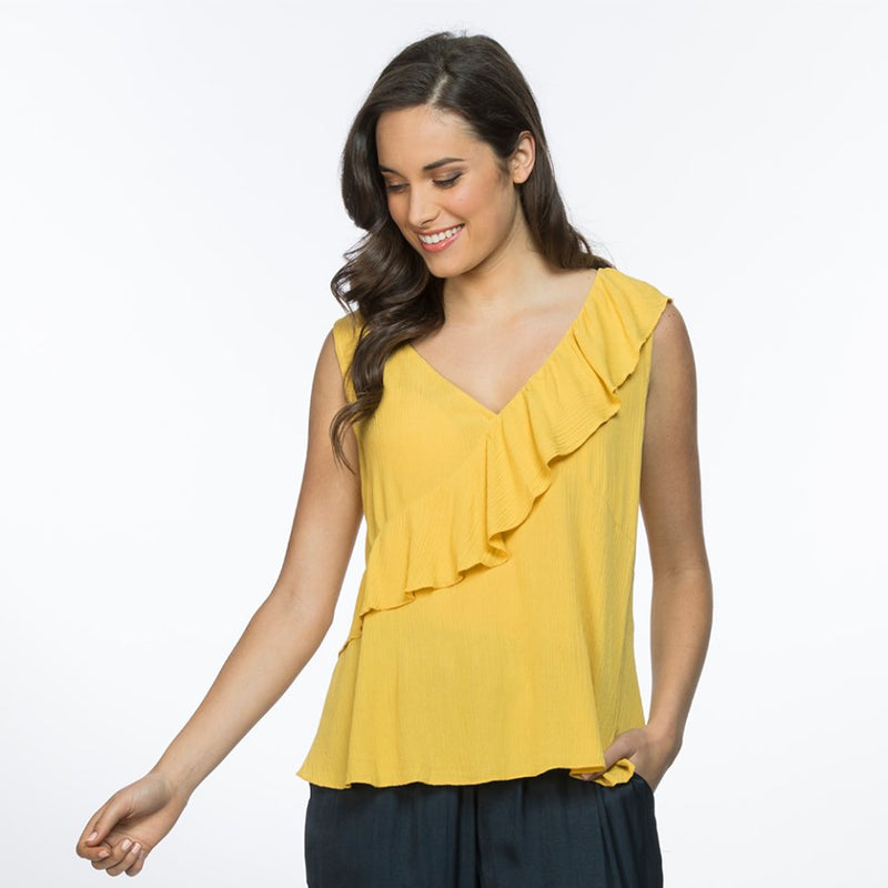 Ruffle Cami - Vault Country Clothing