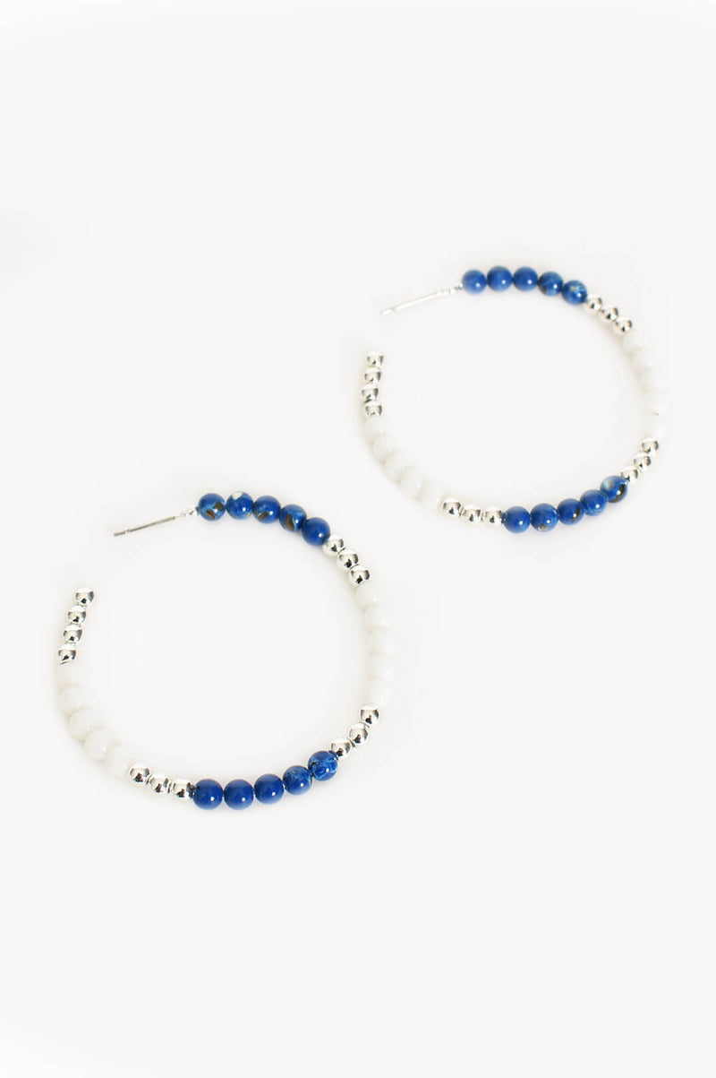 Fine Beaded Hoop Earrings