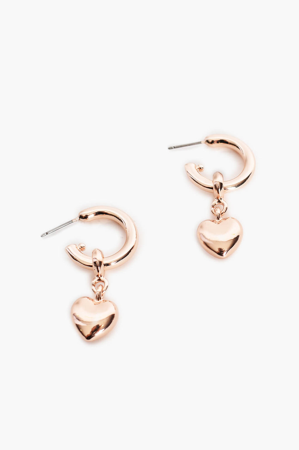 Heart Drop Mini Hoops
