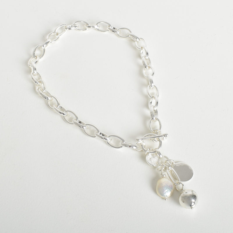 Pearl Ball Cluster Short Necklace - Vault Country Clothing