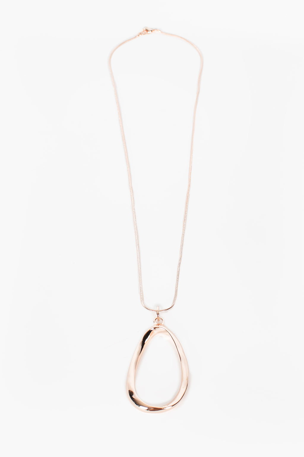 Essentials Oval Ring Drop Pendant