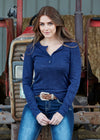 Evie Lace Henley - Vault Country Clothing