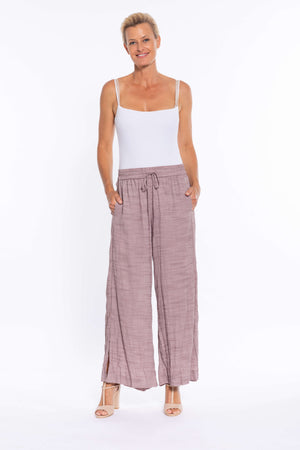 Side Split Wide Leg Pant