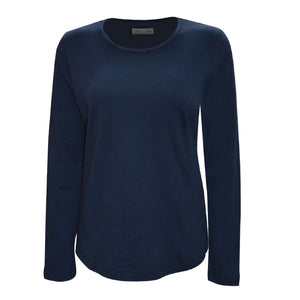 Women's Curved Hem L/S Top - Vault Country Clothing