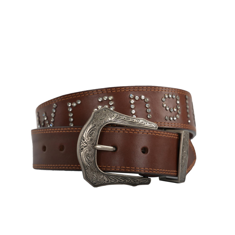 Womens Diamante Logo Belt