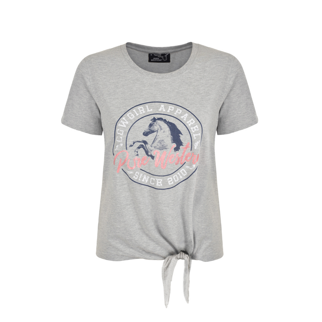 Women's Heather Side Tie Tee
