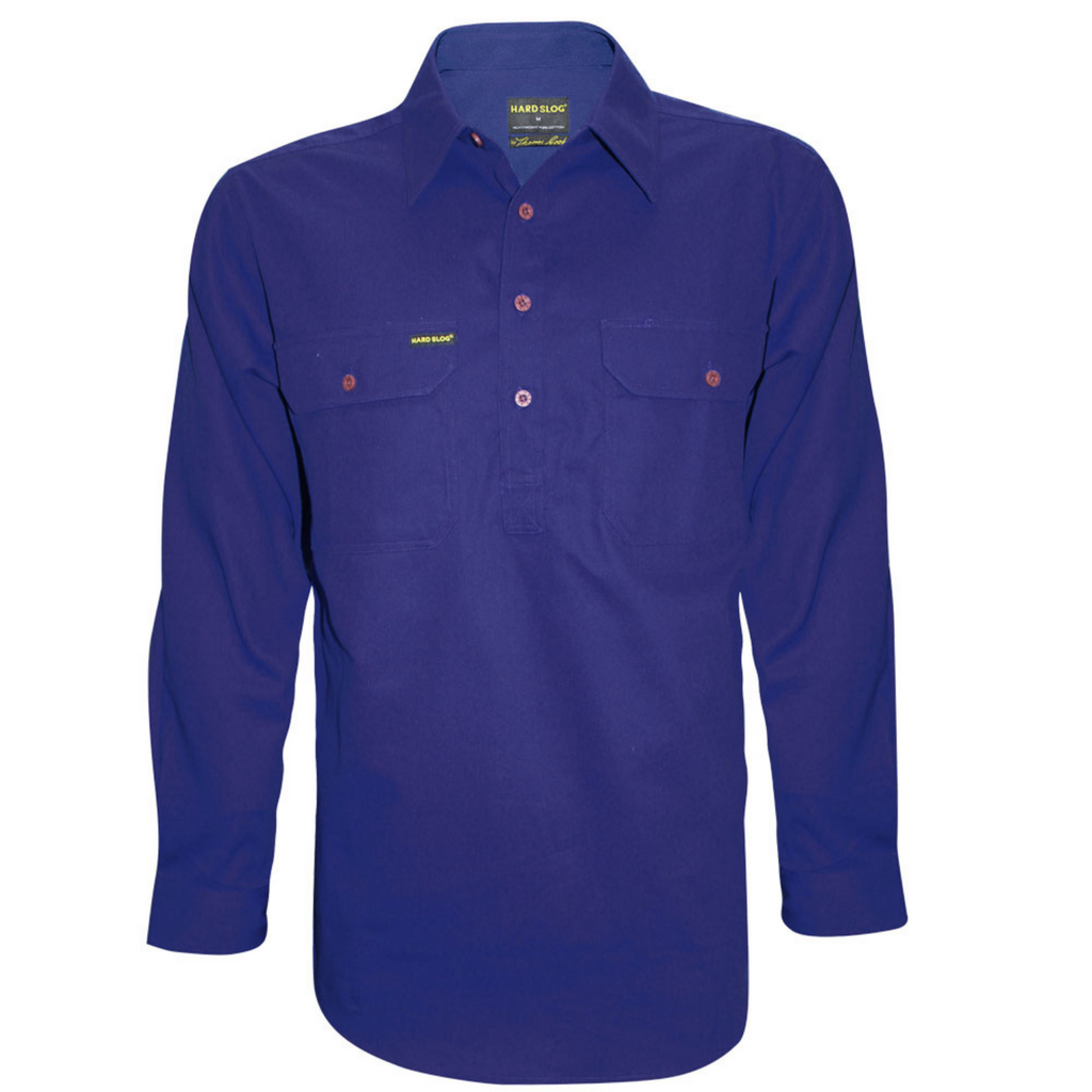 Men's Half Placket Cotton Shirt
