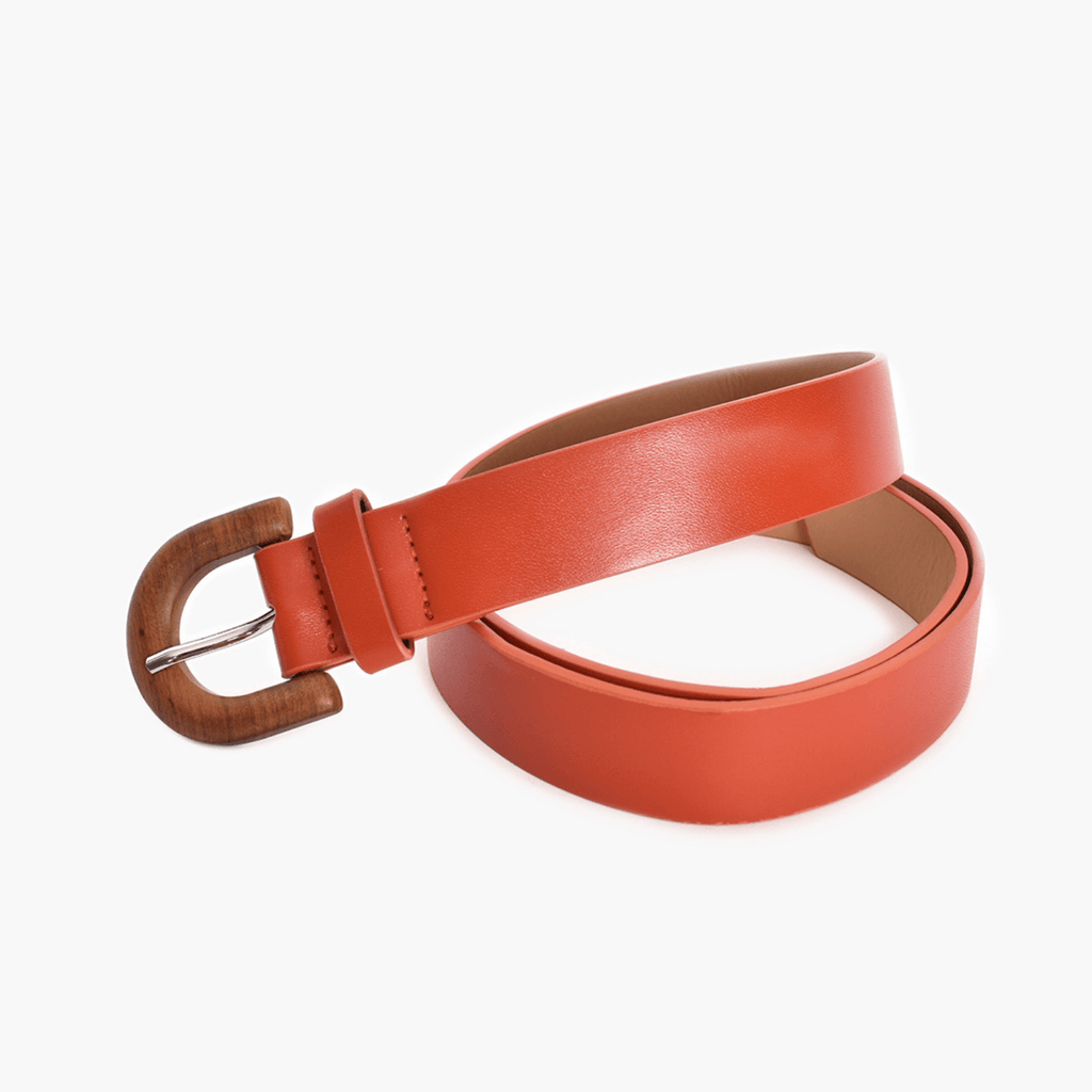 Curved Timber Buckle Belt
