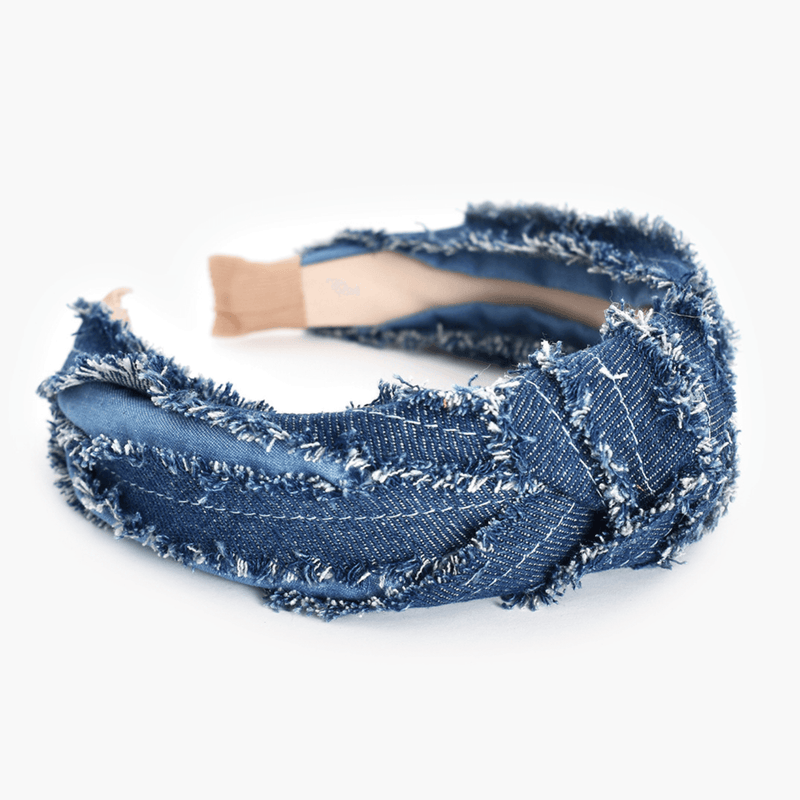 Double Denim Knot Headband
