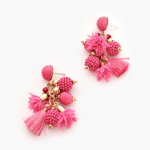 Cosmo Bead Cluster Drop Earrings