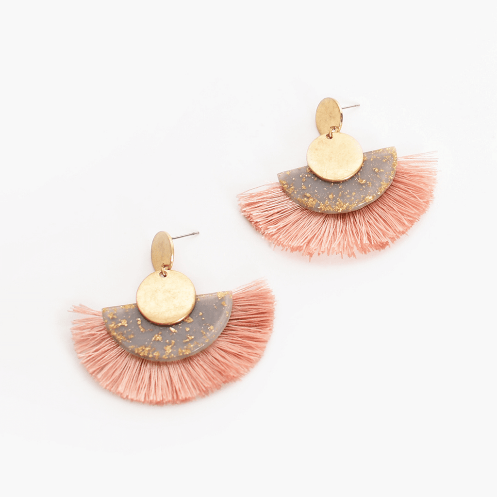 Sparkly Resin Fringe Earrings