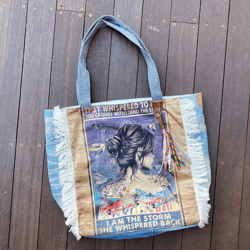 Vintage Dragonfly Graphic Tote