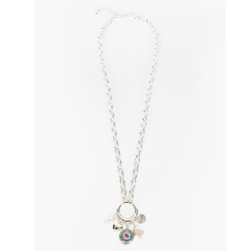 Charm Cluster Drop Necklace