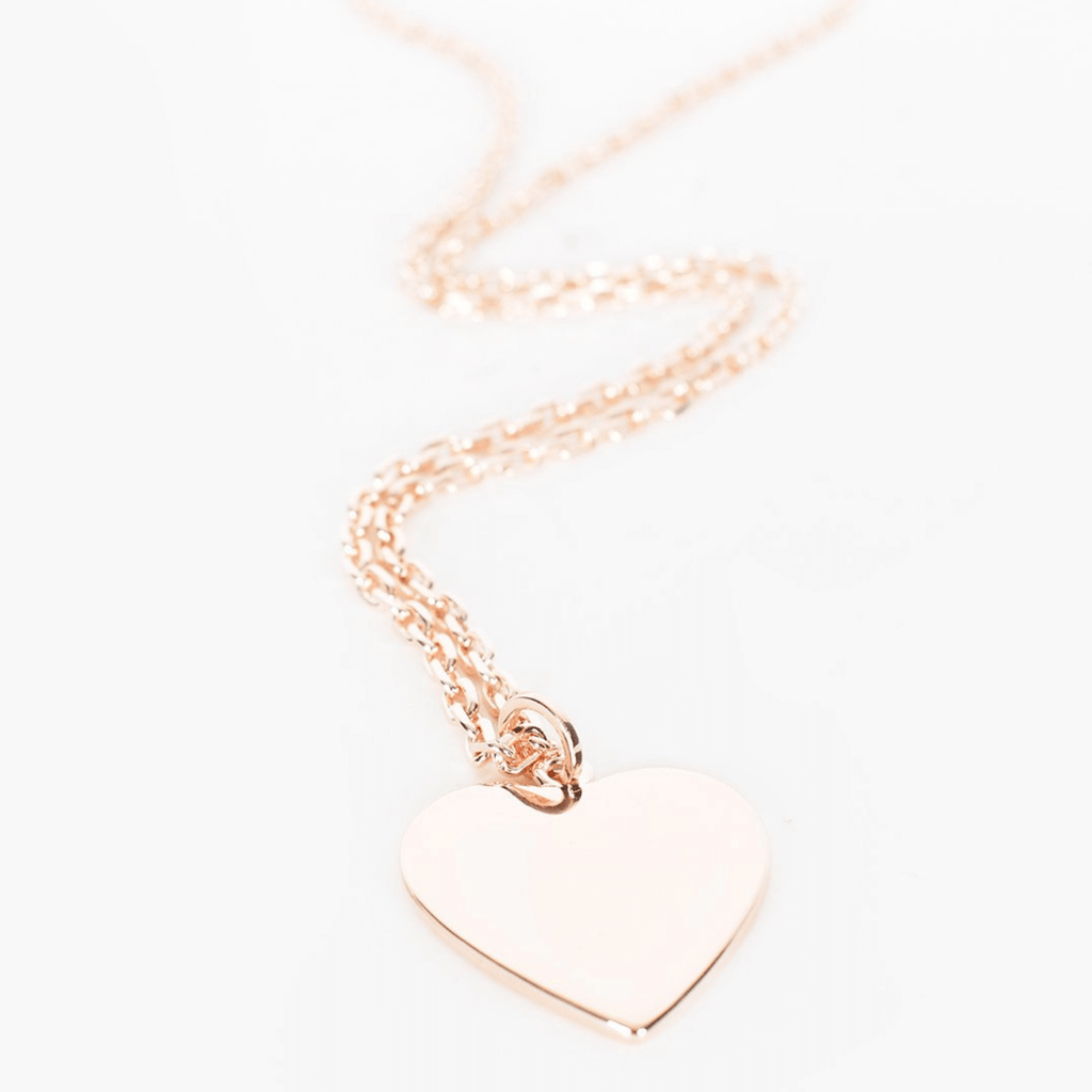 Large Heart Long Pendant Necklace