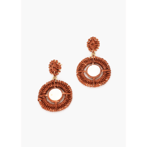 Crochet Shell Centre Drop Earrings